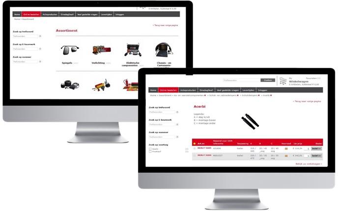 Webshop for Automotive Parts